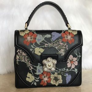 ALEXANDER MQEEN Leather embroidery 100% authentic